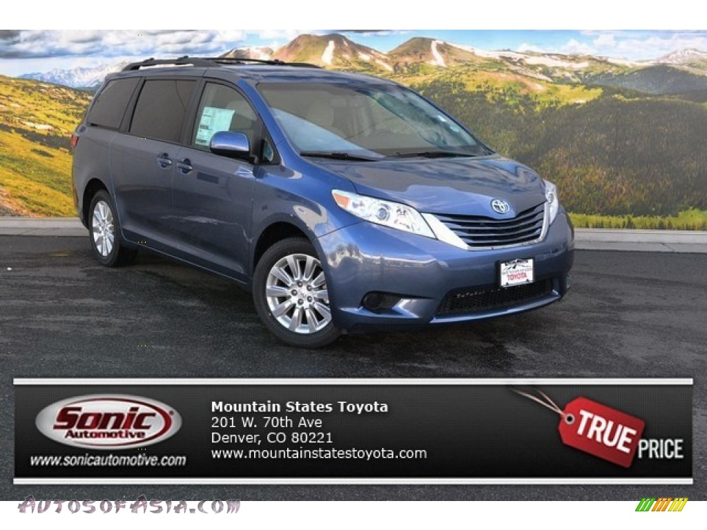 2015 Toyota Sienna Le Awd In Shoreline Blue Pearl 097947