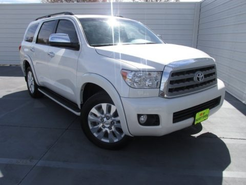 2013 toyota sequoia platinum 4wd in blizzard white pearl 076353 autos of asia japanese and. Black Bedroom Furniture Sets. Home Design Ideas