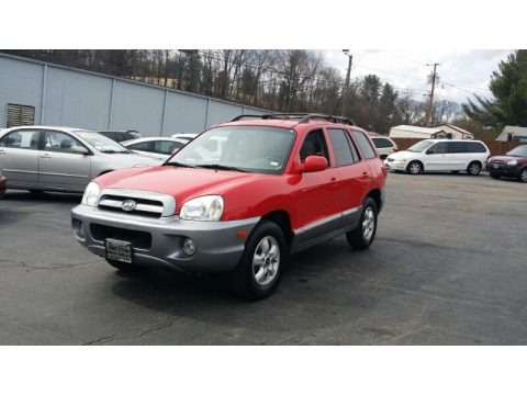 Canyon Red 2005 Hyundai Santa Fe GLS 4WD