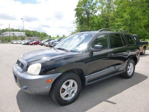 Black Obsidian 2004 Hyundai Santa Fe GLS 4WD