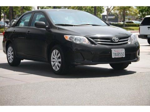 Black Sand Pearl 2013 Toyota Corolla LE