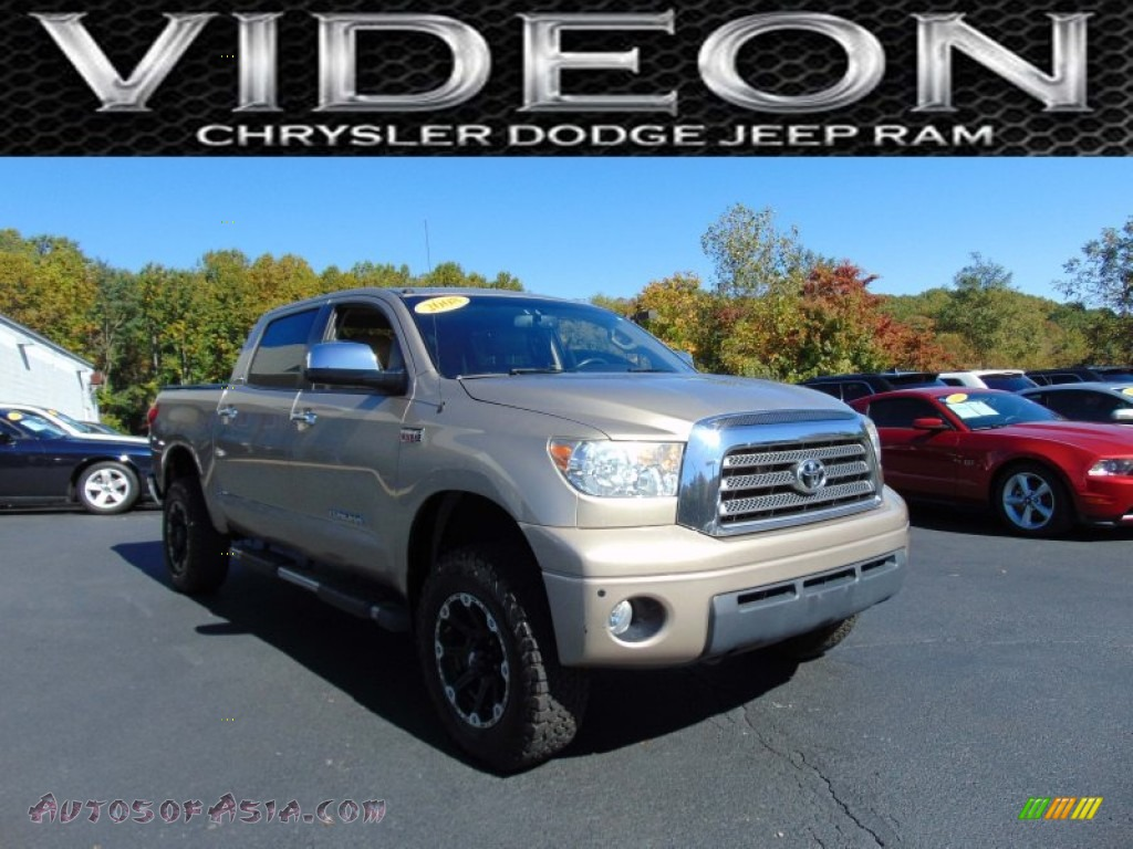 2008 Toyota Tundra Limited Crewmax 4x4 In Desert Sand Mica