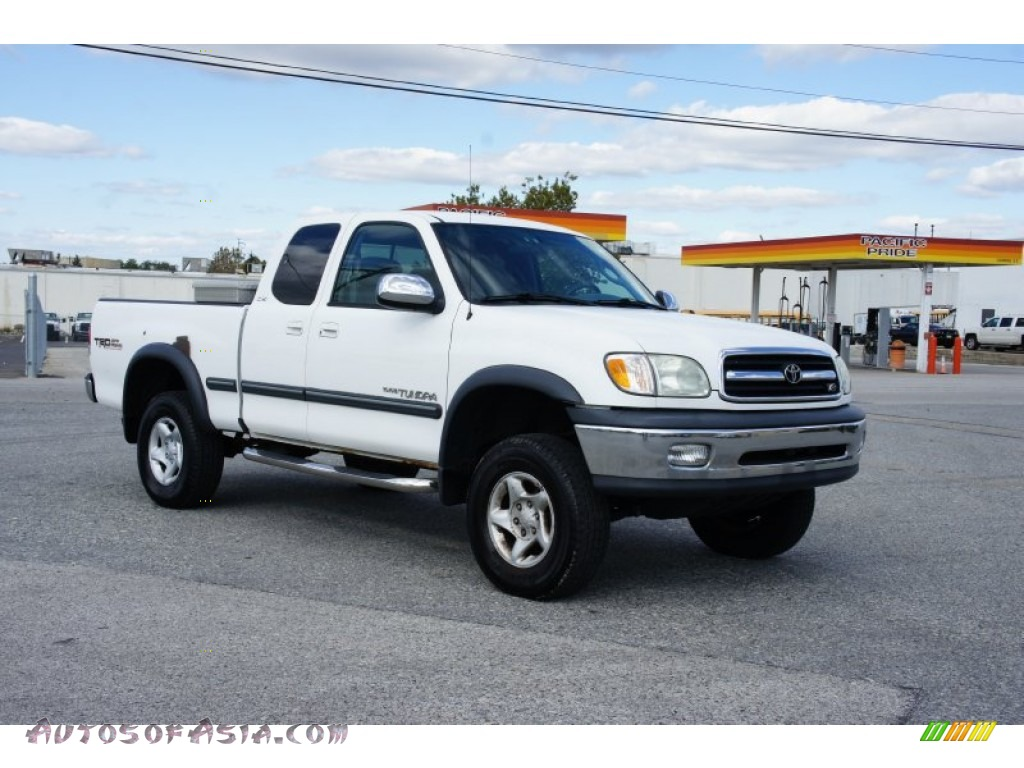 2001 Toyota Tundra SR5 Extended Cab 4x4 in Natural White ...