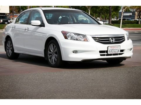 White Orchid Pearl 2012 Honda Accord EX V6 Sedan