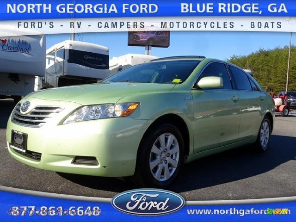 2007 Toyota Camry Hybrid In Jasper Green Pearl 016389 Autos Of