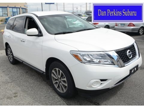 Moonlight White 2013 Nissan Pathfinder S 4x4