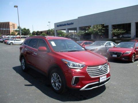Regal Red Pearl 2017 Hyundai Santa Fe SE