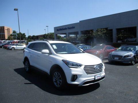 Monaco White 2017 Hyundai Santa Fe SE