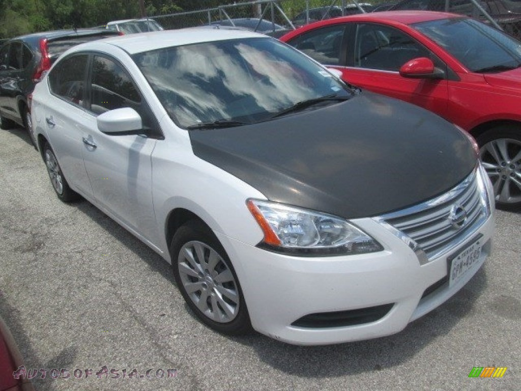 2014 nissan sentra sv in aspen white photo 7 642425 autos of asia japanese and korean. Black Bedroom Furniture Sets. Home Design Ideas