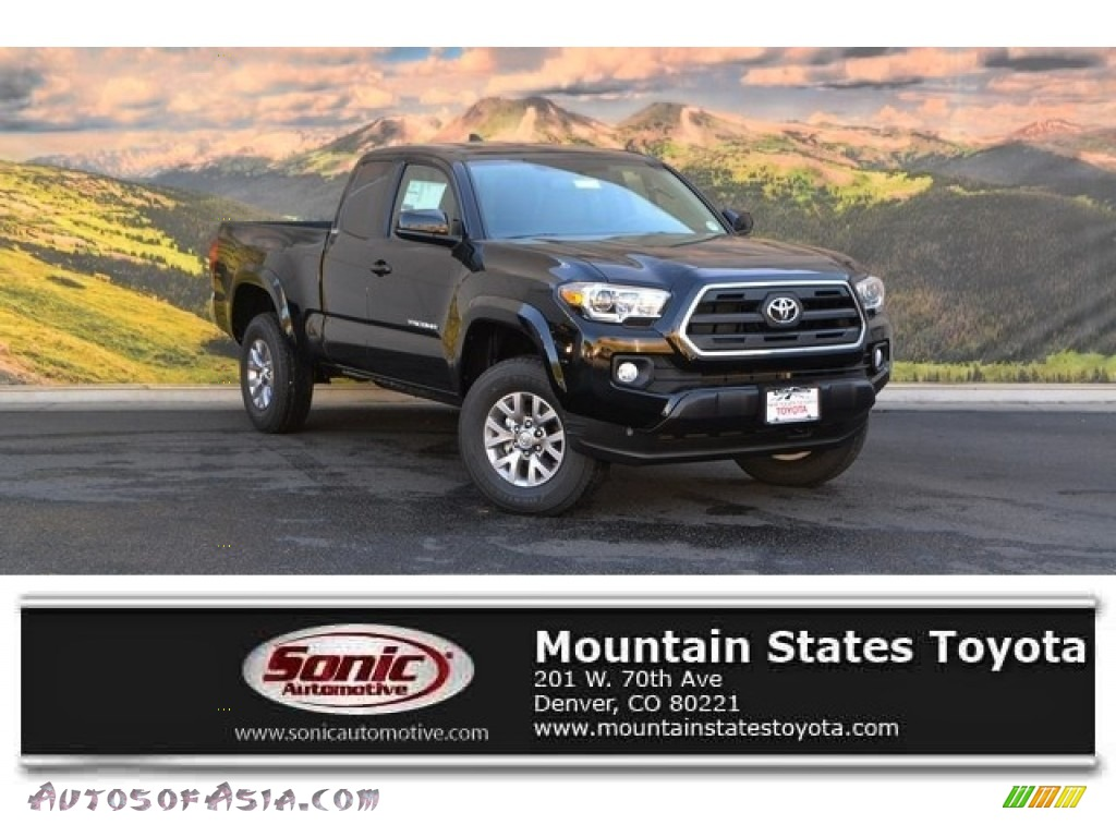 2017 toyota tacoma sr5 access cab 4x4 in black 054262 autos of asia japanese and korean. Black Bedroom Furniture Sets. Home Design Ideas