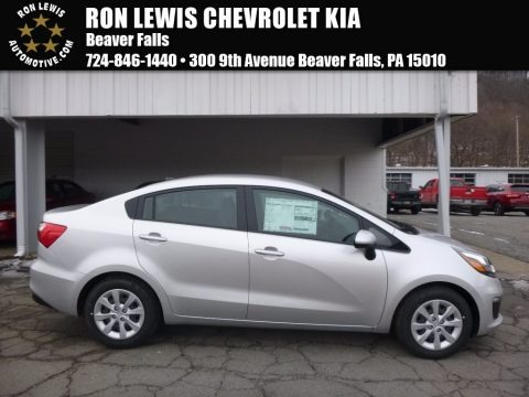 Bright Silver 2017 Kia Rio LX Sedan