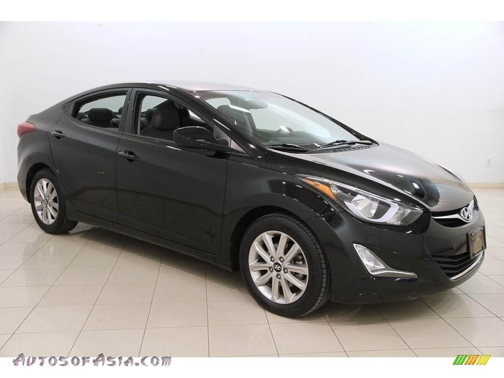 2015 hyundai elantra limited sedan in black diamond. Black Bedroom Furniture Sets. Home Design Ideas