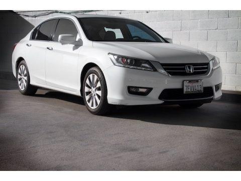 White Orchid Pearl 2014 Honda Accord EX-L V6 Sedan