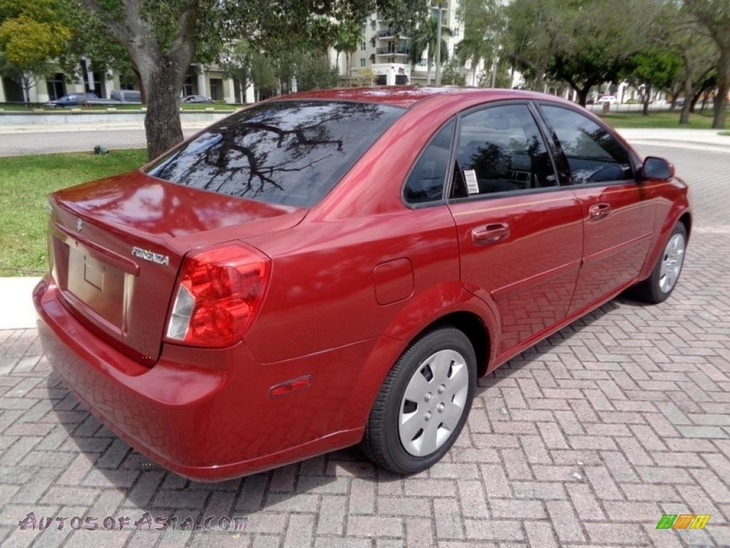 2008 Forenza  - Fusion Red Metallic / Grey photo #9