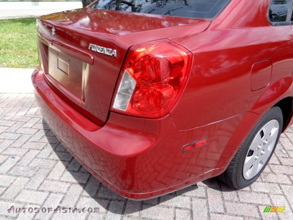 2008 Forenza  - Fusion Red Metallic / Grey photo #22