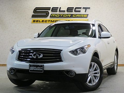 Moonlight White 2013 Infiniti FX 37 AWD