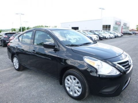 Super Black 2017 Nissan Versa S