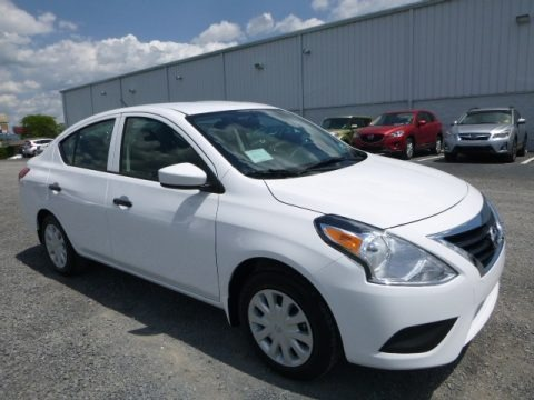 Fresh Powder White 2017 Nissan Versa S