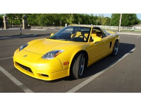 Spa Yellow Pearl 2003 Acura NSX T