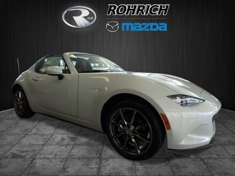 Arctic White 2017 Mazda MX-5 Miata RF Grand Touring