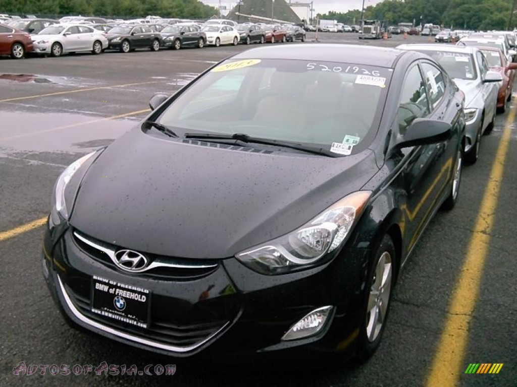 2013 Elantra GLS - Black / Beige photo #1