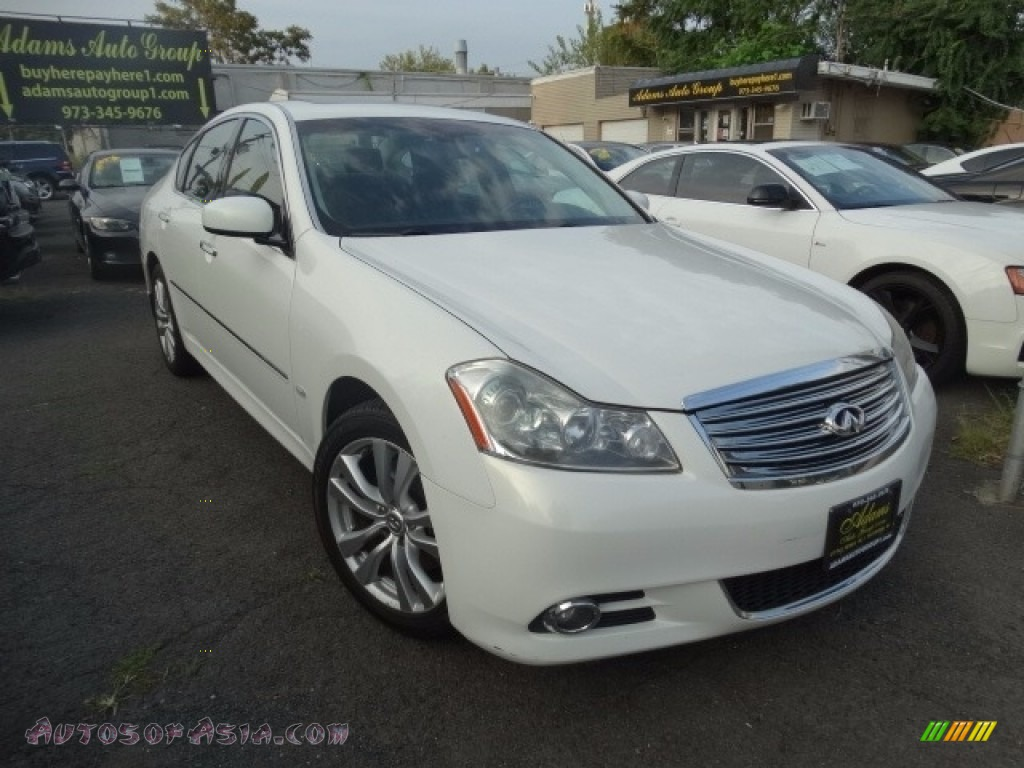 Moonlight White / Wheat Infiniti M 35x AWD Sedan
