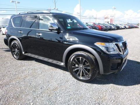 Super Black 2018 Nissan Armada Platinum AWD
