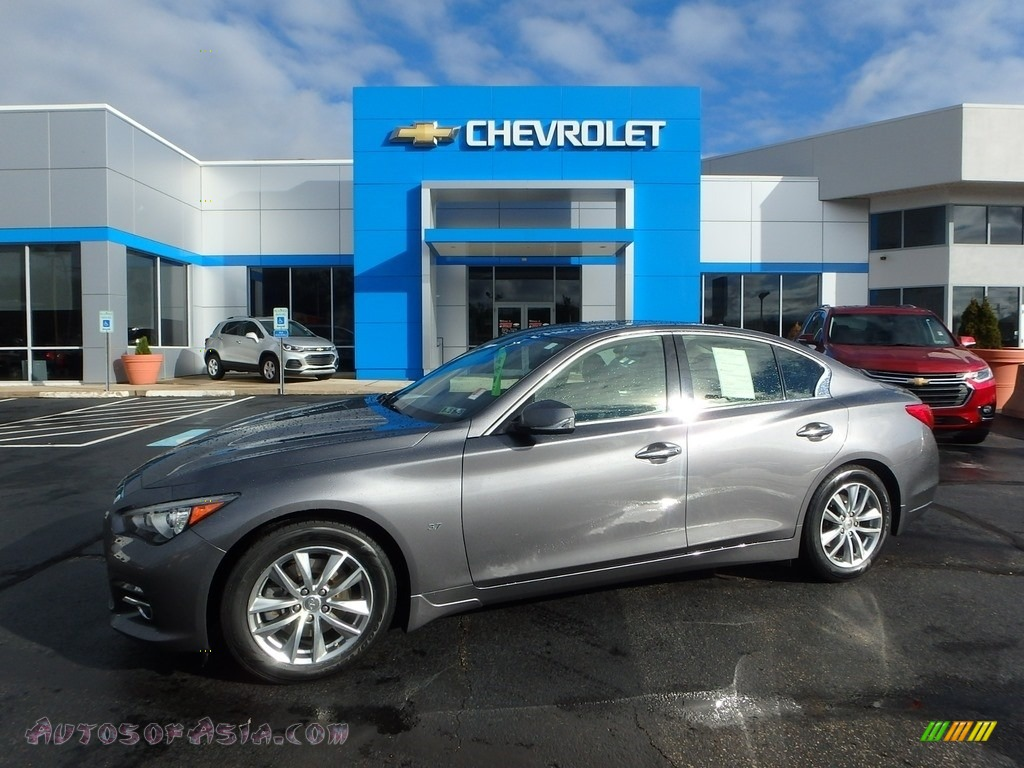2014 Q 50 3.7 AWD Premium - Graphite Shadow / Graphite photo #1