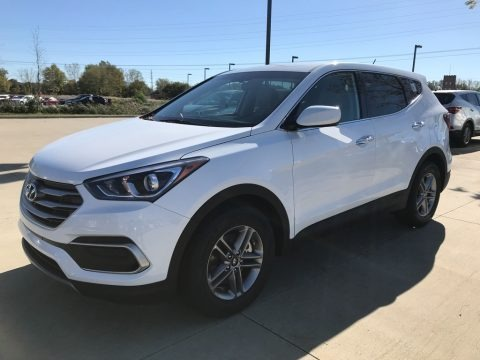 Pearl White 2018 Hyundai Santa Fe Sport AWD