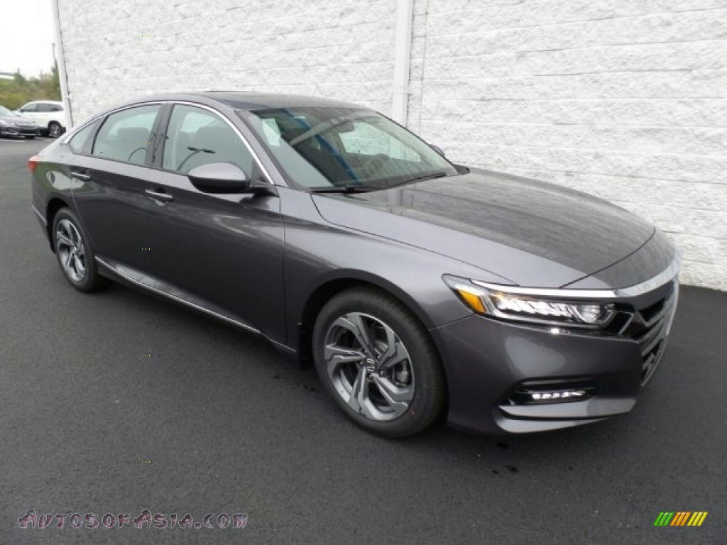 Modern Steel Metallic / Black Honda Accord EX Sedan