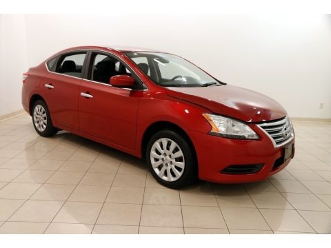 Red Brick 2014 Nissan Sentra SV