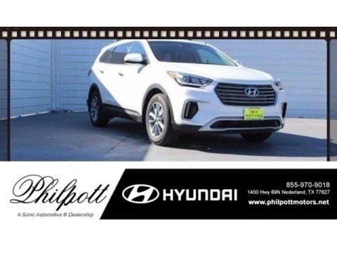 Monaco White 2018 Hyundai Santa Fe SE