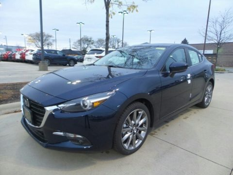 Deep Crystal Blue Mica 2018 Mazda MAZDA3 Grand Touring 4 Door
