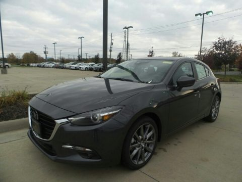 Machine Gray Metallic 2018 Mazda MAZDA3 Grand Touring 5 Door