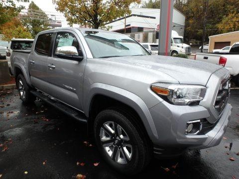 Silver Sky Metallic 2017 Toyota Tacoma Limited Double Cab 4x4