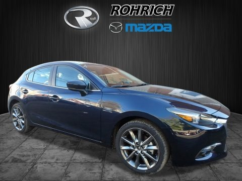 Deep Crystal Blue Mica 2018 Mazda MAZDA3 Grand Touring 5 Door