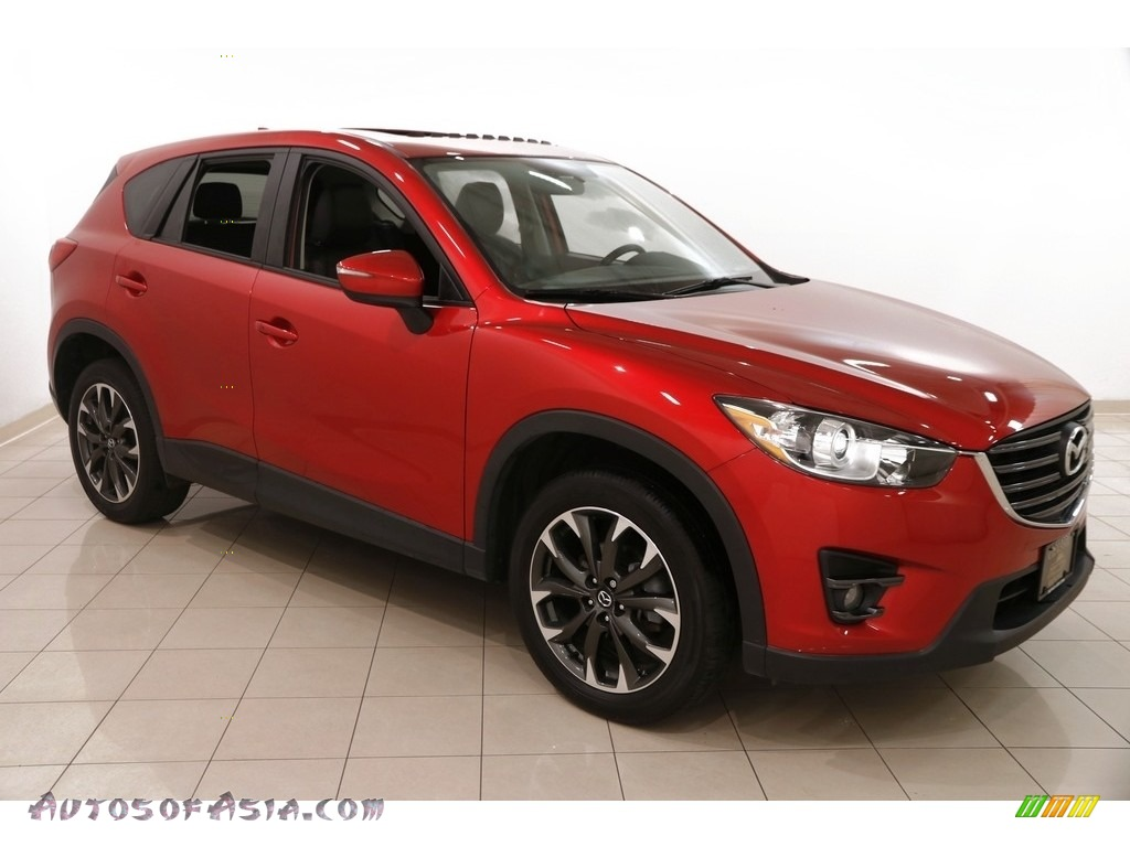 2016 CX-5 Grand Touring AWD - Soul Red Metallic / Black photo #1