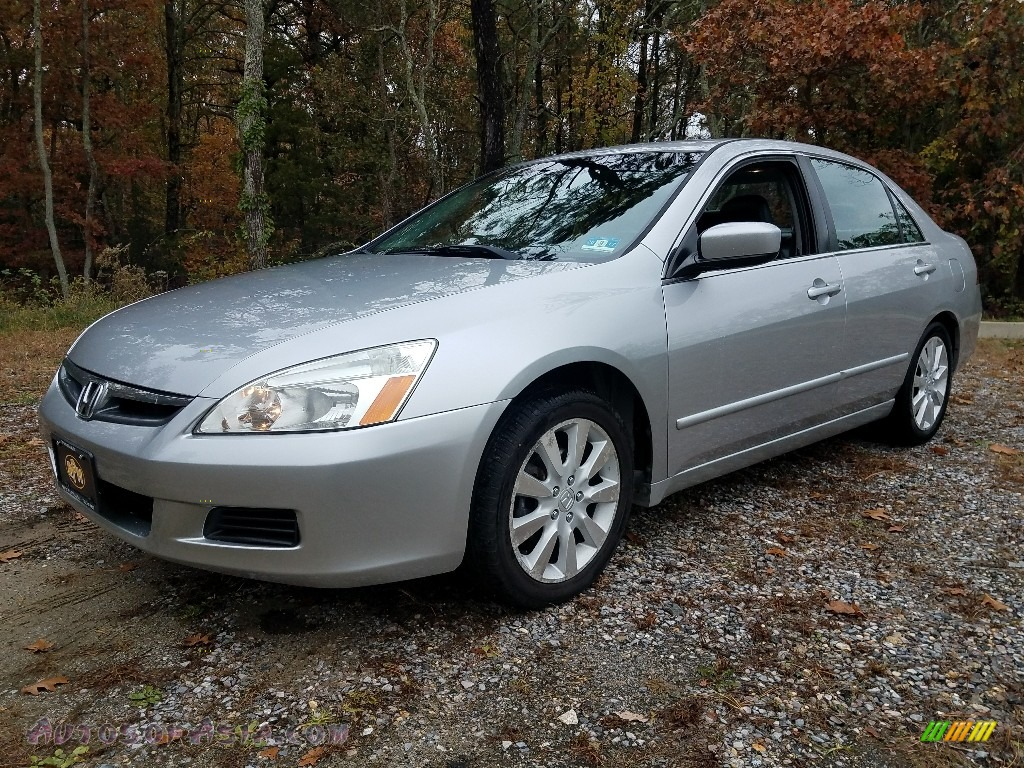 Alabaster Silver Metallic / Black Honda Accord EX-L V6 Sedan
