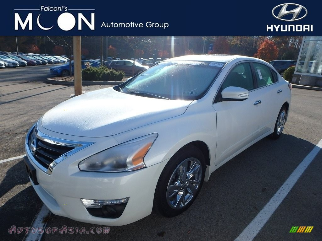 2014 Altima 2.5 SL - Pearl White / Beige photo #1