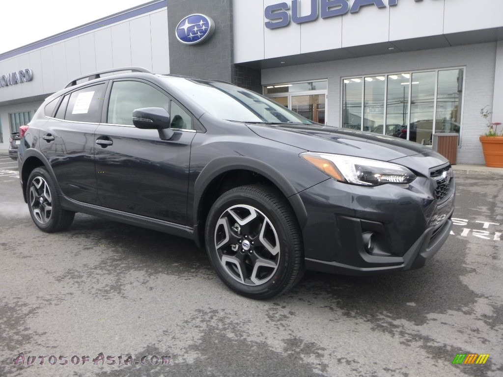 2018 Crosstrek 2.0i Limited - Dark Gray Metallic / Gray photo #1