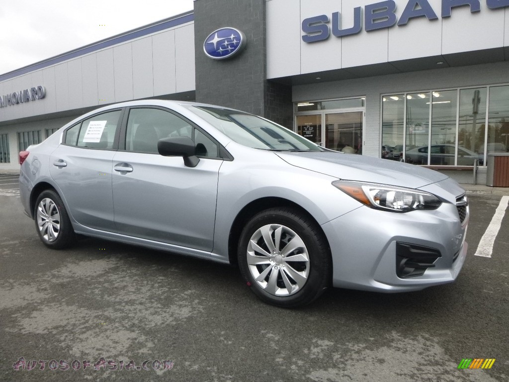 2018 Impreza 2.0i 4-Door - Ice Silver Metallic / Black photo #1