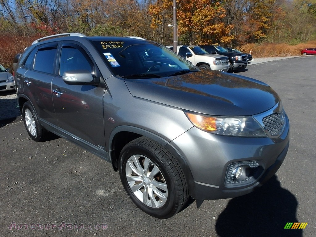 2011 Sorento EX AWD - Titanium Silver / Black photo #5
