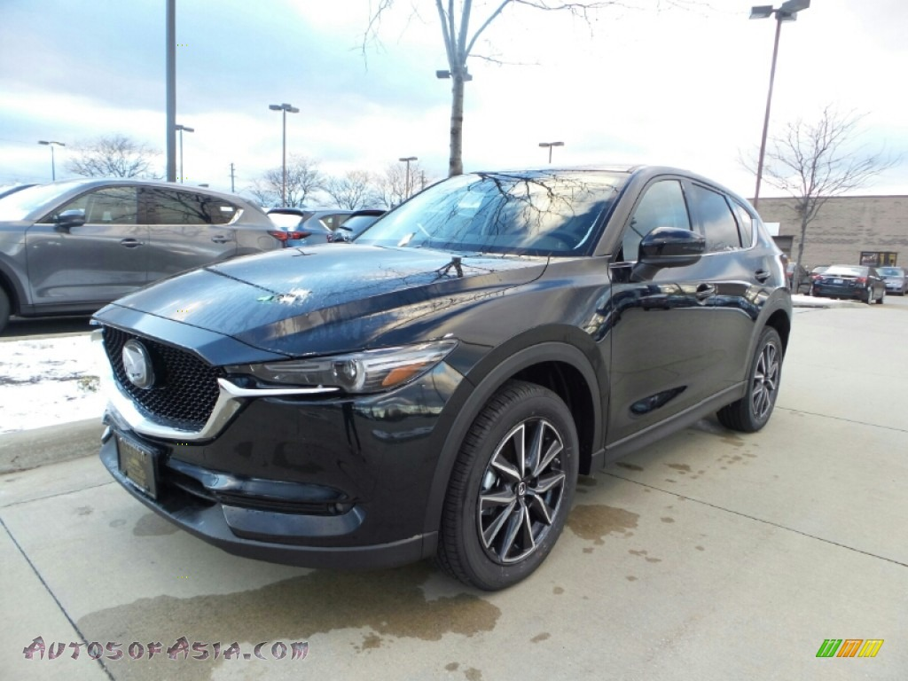 2017 CX-5 Grand Touring AWD - Jet Black Mica / Black photo #1