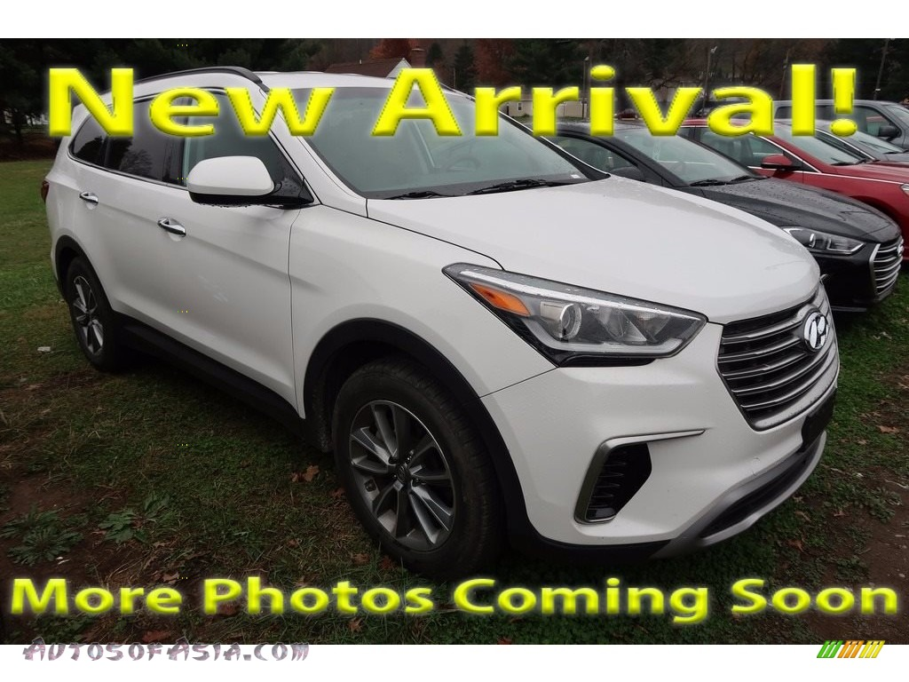 2017 Santa Fe SE AWD - Monaco White / Gray photo #1