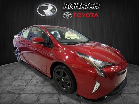 Hypersonic Red 2017 Toyota Prius Prius Four Touring