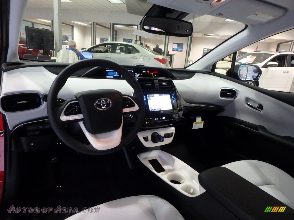 2017 Prius Prius Four Touring - Hypersonic Red / Moonstone Gray photo #8