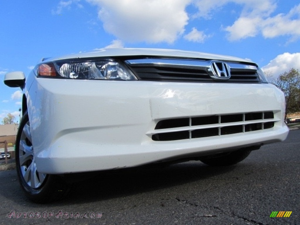 2012 Civic LX Sedan - Taffeta White / Gray photo #1