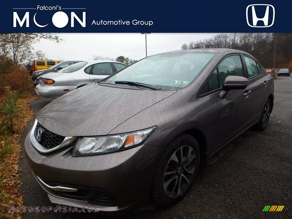 2014 Civic EX Sedan - Urban Titanium Metallic / Black photo #1