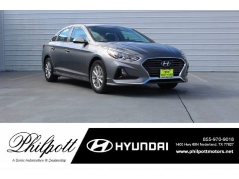 Machine Gray 2018 Hyundai Sonata SE