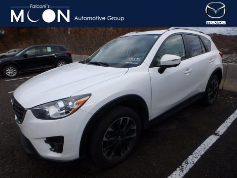 Crystal White Pearl Mica 2016 Mazda CX-5 Grand Touring AWD